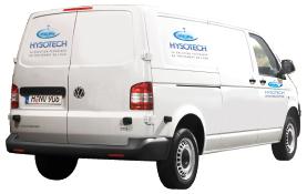 Un camion de l'entreprise Hysotech