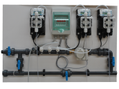 Tableau muldidosa 3 pompes électromagnétiques à membranes complètes